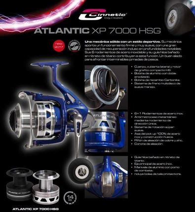 carrete de casting Atlantic XP 7000 HSG de Cinnetic