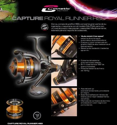 carrete de casting Capture Royal Runner HSG 6500 de Cinnetic