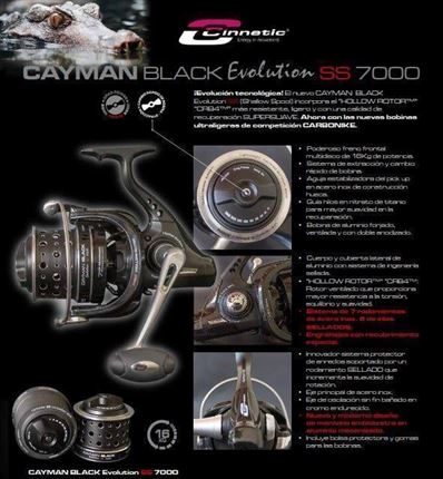 carrete de casting Cayman Black Evolution SS 7000  de Cinnetic