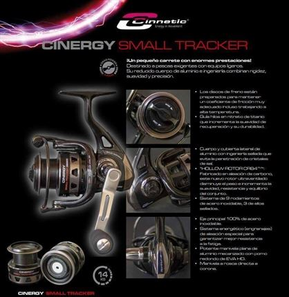 carrete de casting Cinergy Small Tracker de Cinnetic