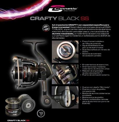 carrete de casting Crafty Black SS de Cinnetic