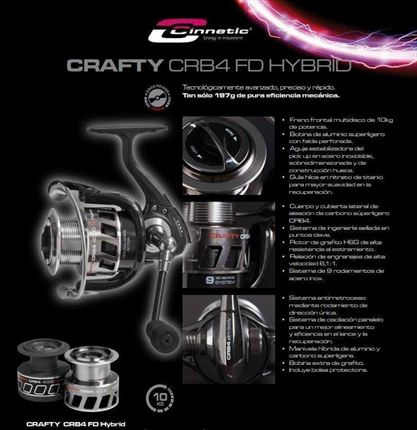 carrete de spinning-sufcasting Crafty CRB4 FD HYBRID de Cinnetic