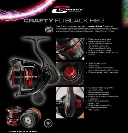 carrete de casting Crafty FD Black HSG de Cinnetic