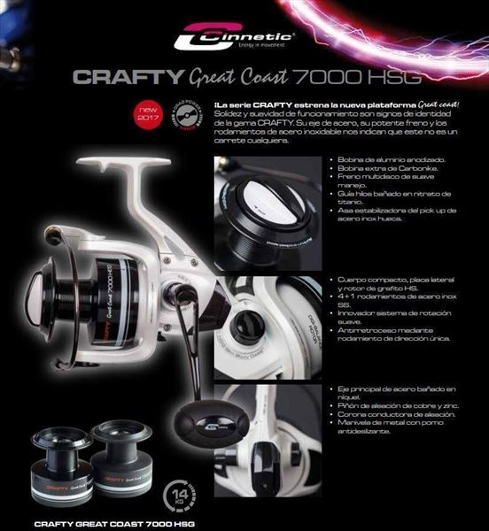 Carretes CRAFTY GREAT COAST 7000 HSG CINNETIC