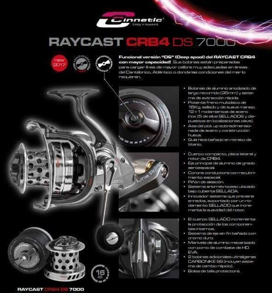 Carretes RAYCAST CRB4 DS 7000 CINNETIC