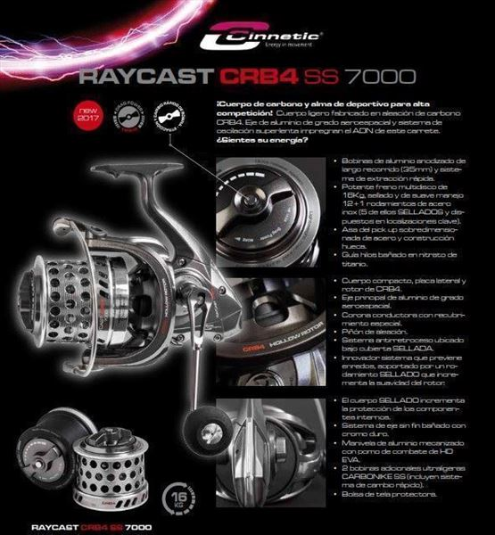 Carretes RAYCAST CRB4 SS 7000 CINNETIC