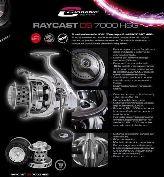 Carretes RAYCAST DS 7000 HSG CINNETIC