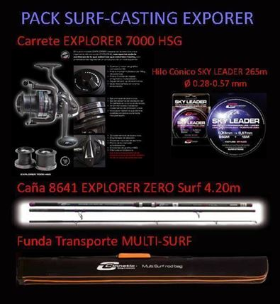 pack de Cinnetic Explorer, Equipo Completo Surf-Casting