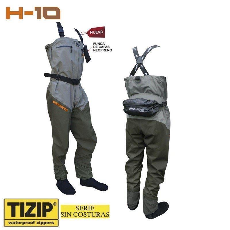 vadeador o bota transpirable de Seland H10-ZC con calcetin sin costuras